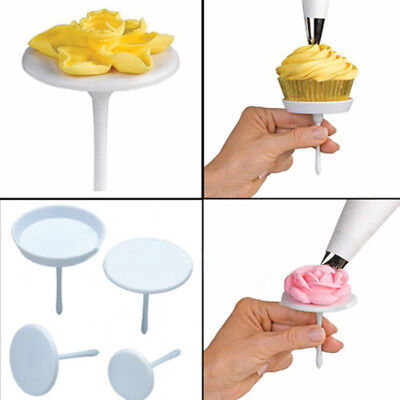4pcs Cake Cupcake Stand Icing Cream Flower Nails Sugarcraft Decorating Tool