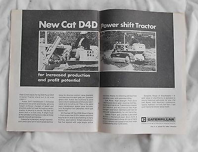 Caterpillar D4D Tractor Advertisement removed from 1969 Farming Magazine