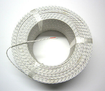 J-type Thermocouple Wire AWG 24 Solid Wire Fiberglas Insulation Extension 1 yard