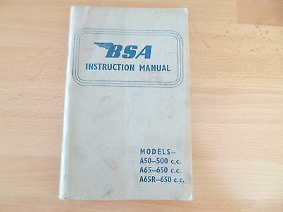 BSA Owners Instruction Book  A50 A65 Star A65R Rocket dated July 1964