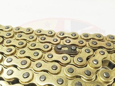 Heavy Duty Motorcycle Drive Chain 428-120 Gold for Lexmoto Arizona 125 ZS125-30