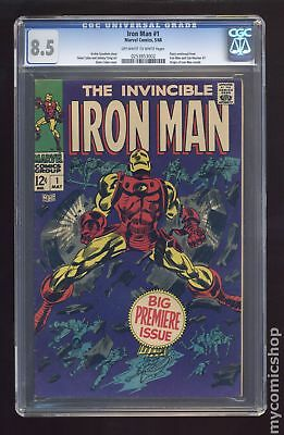 Iron Man (1968 1st Series) #1 CGC 8.5 0253853002