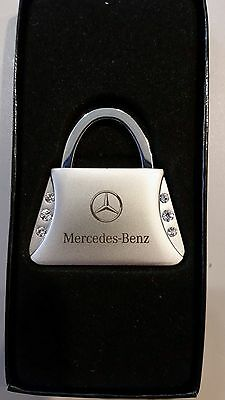 Mercedes Benz Keychain Purse With Clear Crystals