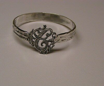 Napkin Ring with a ( Initial ( C  ) Sterling Silver