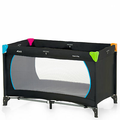 New Hauck Multi Colour  Black Dream And Play Baby Travel Cot Play Pen From Birth