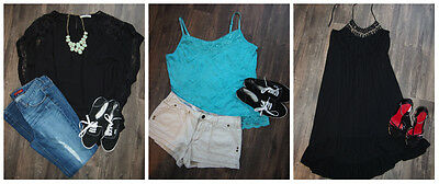 3 PIECE Plus Size Clothing LOT Women's DRESS & 2 Tops-Cami, Lace Items-Size 2X!!