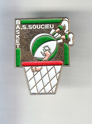 Rare Pins Pin's .. Sport Basket Ball Club Team A.s Soucieu En Jarrest 69 ~Cq