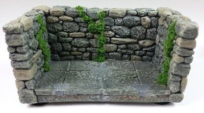 Scenic Mouse Mossy Full Stone Wall Display Base for Wee Forest Folk