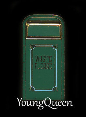RARE Disney Cast Haunted Mansion Trash Can Series Waste Please Hinged Le Pin