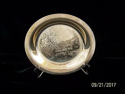 """James Wyeth """"Brandywine Beautiful"""" Sterling Silver Collector Plate 1976"""