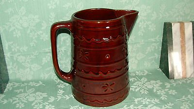 Marcrest   Brown Daisy Dot  Pitcher Jug