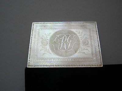 Mother Of Pearl Chinese 1820 - 40 Initial Rg Stunning Design Large Gaming Plaque