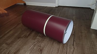 "Burgundy/White Trim Coil 24"" x 50'  Made in USA"