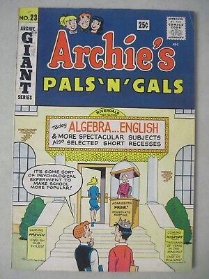 Archie's Pals 'n' Gals #23 Archie Comics Giant Series Winter 1962-1963 Bikini