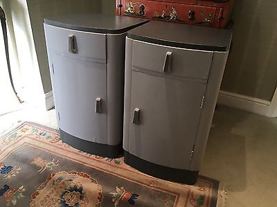 Pair Of Painted 1930s Deco Bedside Cabinets
