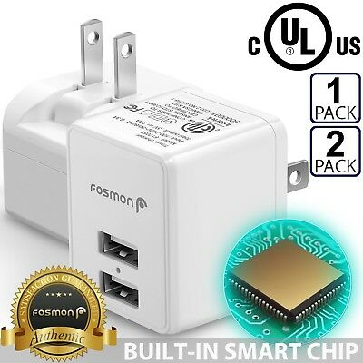Dual 2 Port USB FAST Wall Charger Adapter For iPhone X 8 Plus Galaxy S9+ Note 8