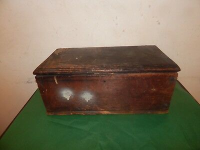 Antique Wooden Stained Pine Box,Chest.