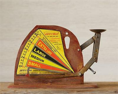 Vintage-Inspired Metal Working Primitive Jiffy Way Egg Scale Chicken Poultry