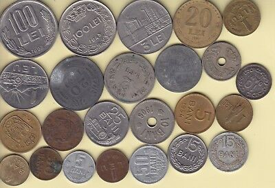 Romania  nice lot of 24 coins ( with 2 Bani 1900 )