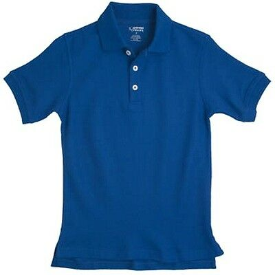 School Uniforms Royal Blue S/S Polo Shirt French Toast 18 Unisex Cotton Blend