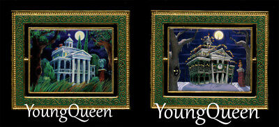 RARE Disney Haunted Mansion House Changing Portrait NBC Spinner Le 500 Pin