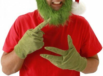 Dr Seuss Grinch Who Stole Christmas Costume Adult GLOVES Green Teen LICENSED NEW
