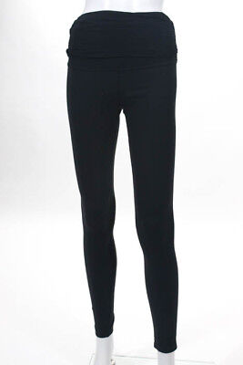 Beyond the Bump by Beyond Yoga Black Stretch Knit Maternity Leggings Size Small