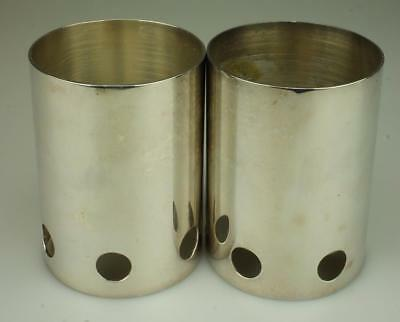 Pair of Silverplated Candle Holders marked Samantha E.P.A.I SC57