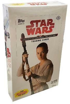 2017 Topps Star Wars JOURNEY TO THE LAST JEDI Factory Sealed Hobby Box 2 Hits