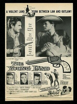 1958 Dennis Hopper photo The Young Land movie release vintage print ad