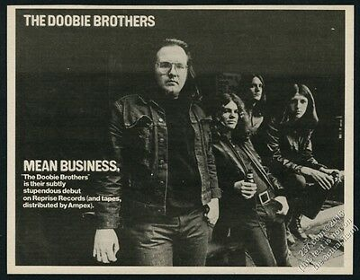 1971 The Doobie Brothers photo debut album release vintage print ad