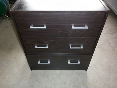 Chest Of Drawers - 3 Drawers With Handles Black In Colour