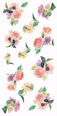 "13347-AC New Design Rose Flowers 3-1/2"" X 7-1/4"" Sheet Ceramic Decals Dx"