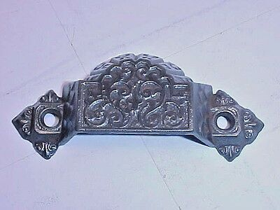 Single antique cast iron furniture pull marked PAT OCT.,1,1872