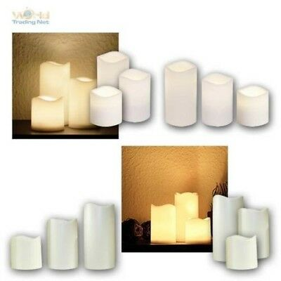 LED Candle for Outdoor with Timer, Flickering Flameless