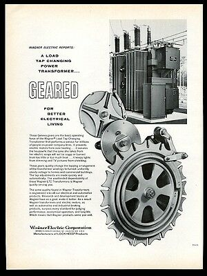 1962 Wagner Electric power transformer photo vintage print ad