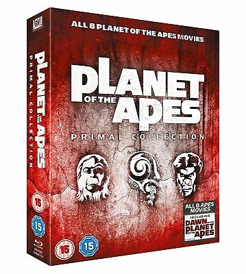 Planet of the Apes Primal Collection 1-8 All 8 Films Blu-ray, 8 Discs Brand New