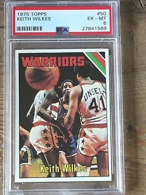 1975 Topps Basketball #50 PSA 6 Keith/Jamal Wilkes Rookie Card HOF