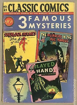 Classics Illustrated 021 3 Famous Mysteries (1944) #1A GD+ 2.5