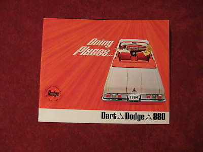 1964 Dodge & Dart  Vintage Showroom Mopar Dealership Brochure Original Old