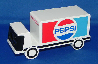 Vintage Pepsi Delivery Truck Desk Clock/Paperweight/Business Card Holder w/Box