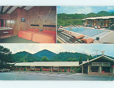 Damaged Pre-1980 BEARLAND MOTEL Gatlinburg Tennessee TN M4638