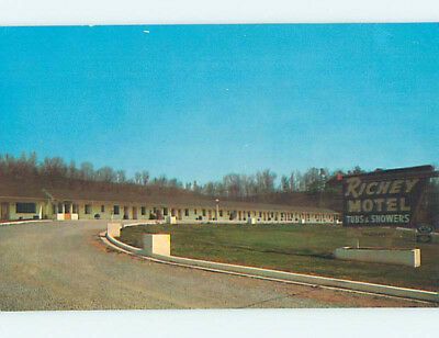 Damaged Pre-1980 RICHEY MOTEL Chattanooga Tennessee TN M4416