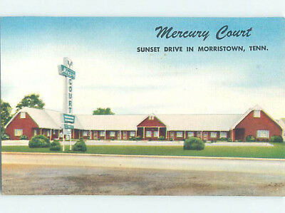 Unused Linen MERCURY COURT MOTEL Morristown Tennessee TN M5837