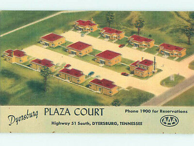 Unused Linen PLAZA COURT MOTEL Dyersburg Tennessee TN M5991