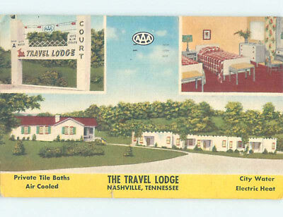 Linen TRAVEL LODGE MOTEL Nashville Tennessee TN J7889