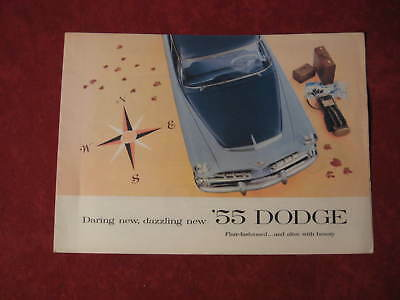 1955 Dodge Vintage Showroom Dealership Brochure  Poster Original Old