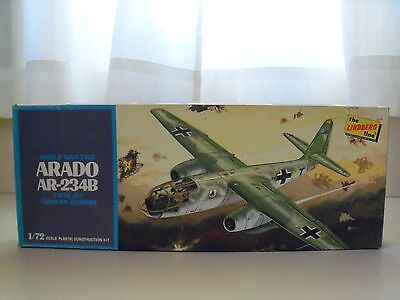 Vintage The Lindberg Line - Ww Ii Arado Ar-234B German Bomber - 1/72 Model Kit