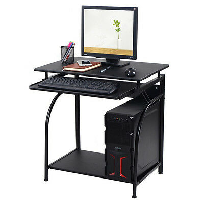 Corner Computer Desk PC Laptop Small Black Table Spaces Workstation Home Office