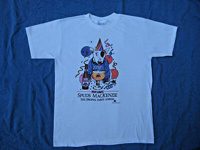 Vintage 80s Spuds Mackenzie Original Party Animal T Shirt Sz XL